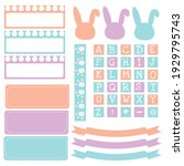 cute paper notes in sweet color ... | Shutterstock .eps vector #1929795743