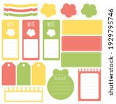 cute paper notes in sweet color ... | Shutterstock .eps vector #1929795746