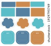 cute paper notes in sweet color ... | Shutterstock .eps vector #1929795749