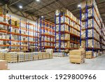 Interior Of A Modern Warehouse...