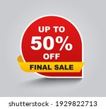 up to 50 percent off final sale.... | Shutterstock .eps vector #1929822713