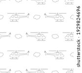 Seamless Patterns. Helicopter...
