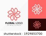 floral jewellery logo vector... | Shutterstock .eps vector #1929853700