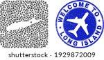 vector mosaic long island map...   Shutterstock .eps vector #1929872009
