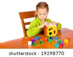 young girl with cube | Shutterstock . vector #19298770