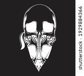 human outlaw skull vector...   Shutterstock .eps vector #1929884366