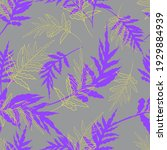 seamless pattern with purple...   Shutterstock .eps vector #1929884939