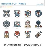 internet of things icon set... | Shutterstock .eps vector #1929898976