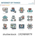 internet of things icon set... | Shutterstock .eps vector #1929898979