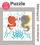 educational jigsaw puzzle game... | Shutterstock .eps vector #1929904886