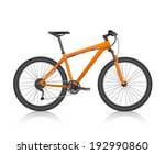 realistic mountain bike orange... | Shutterstock .eps vector #192990860