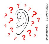 contours of person's ear and... | Shutterstock .eps vector #1929942530