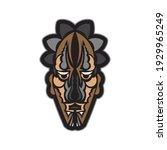 maori or samoan style mask.... | Shutterstock .eps vector #1929965249