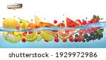 fresh fruit and sweet berries ... | Shutterstock .eps vector #1929972986