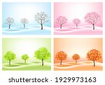 four nature backgrounds with... | Shutterstock .eps vector #1929973163