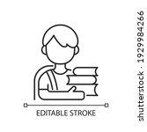 schoolboy linear icon. early... | Shutterstock .eps vector #1929984266