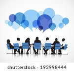 group of people discussing | Shutterstock .eps vector #192998444