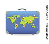image with a suitcase for... | Shutterstock .eps vector #192999089