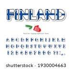 finland national flag font.... | Shutterstock .eps vector #1930004663