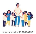 educator and kids. teacher ... | Shutterstock . vector #1930016933