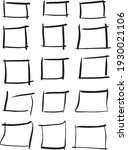 hand drawn doodle square frames ... | Shutterstock .eps vector #1930021106