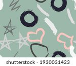 cute seamless pattern with... | Shutterstock .eps vector #1930031423