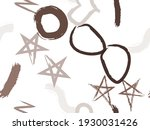 cute seamless pattern with... | Shutterstock .eps vector #1930031426
