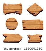 wooden banners. empty sign... | Shutterstock . vector #1930041350