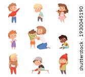 dressing up kids. children... | Shutterstock . vector #1930045190