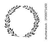 laurel black wreath. leaves and ...   Shutterstock .eps vector #1930071650