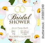 bridal shower | Shutterstock .eps vector #193007240
