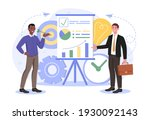 shareholder or top manager with ... | Shutterstock .eps vector #1930092143