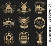 Set Of Bakery Shop Badge....