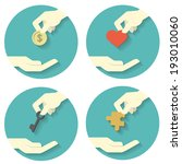 icons set of hand picking and... | Shutterstock .eps vector #193010060