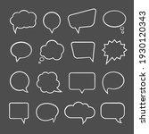 cartoon comic bubble  speech...   Shutterstock .eps vector #1930120343