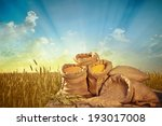 sacks of grain on the... | Shutterstock . vector #193017008