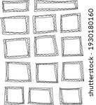 14 hand drawn doodle rectangle... | Shutterstock .eps vector #1930180160