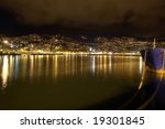 night photo of a city by the... | Shutterstock . vector #19301845