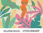 tropical background with jungle ...   Shutterstock .eps vector #1930188689