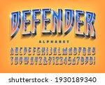 defender is an alphabet design...   Shutterstock .eps vector #1930189340