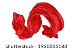 beautiful flowing fabric flying ... | Shutterstock . vector #1930205183