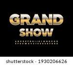 vector luxury poster grand show.... | Shutterstock .eps vector #1930206626