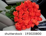 big bouquet of beautiful red... | Shutterstock . vector #193020800