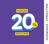 discount up to 20  off special... | Shutterstock .eps vector #1930217396