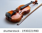 Bow And Violin Isolated On...