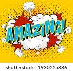 word amazing on comic cloud... | Shutterstock .eps vector #1930225886