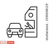 drive through line icon. simple ...