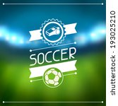 sports background with soccer... | Shutterstock .eps vector #193025210