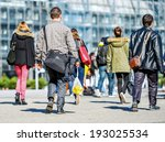 back view of rush hour  city... | Shutterstock . vector #193025534