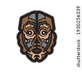 colored mask in maori or samoan ... | Shutterstock .eps vector #1930256339